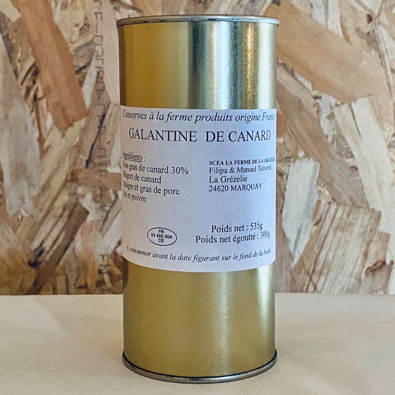 Galantine au foie gras de canard