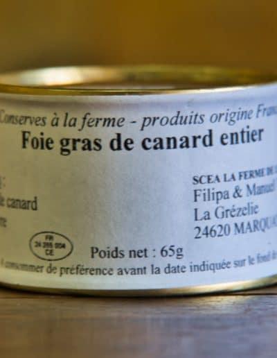 Foie gras de canard entier 65g