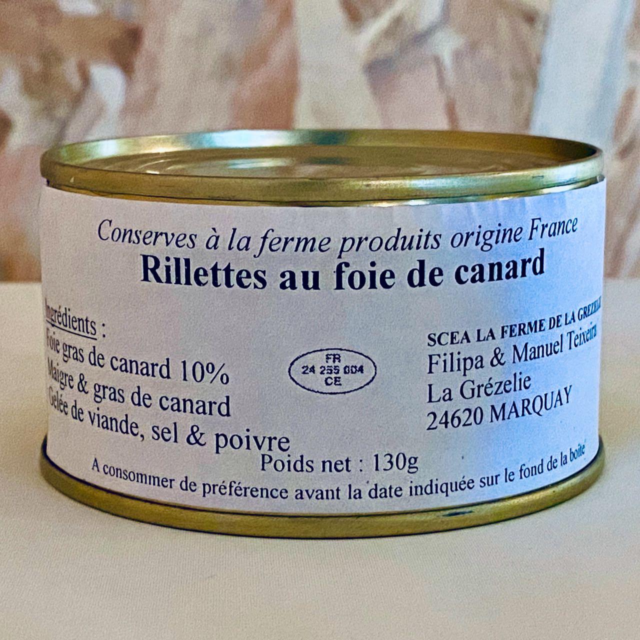 Rillettes au foie gras de canard